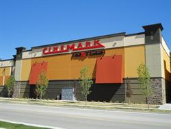 Cinemark and NextGen signs on the south side of the building. - , Utah