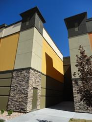 A short alley provides access to the exterior exits for two auditoriums. - , Utah