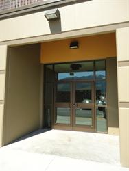 Exit doors at the east end of the main hall. - , Utah