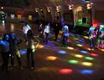 The dance floor with the wall lights on. - , Utah