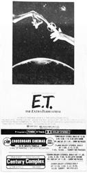 Century and Crossroads add 35mm prints of E. T.:The Extra-Terrestrial. - , Utah