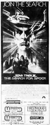 'Star Trek II: The Search for Spock', in 70mm Dolby Stereo at Crossroads, Cottonwood Mall, and Century. - , Utah