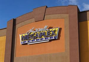 A Megaplex Theatres sign on the south exterior wall. - , Utah