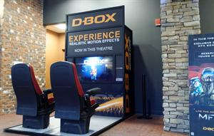 "D-Box seats in the lobby allow guests to ""experience realistic motion effects"" offered in select auditoriums. - , Utah"