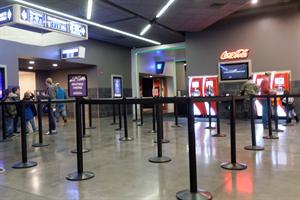 Just inside the point of entry is a satellite concession stand with two separate lines, one for the sales counter and the other for the Coca-Cola Freestyle drink machines. - , Utah