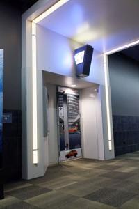 A Mark Miller Subaru advertisement covers the door to Theater 14. - , Utah