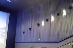 Surround speakers along the right wall of the auditorium. - , Utah