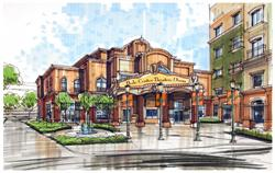 Rendering of the exterior of the Hale Center Theater at Midtown Village.