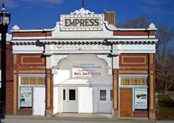 Full front outside view of Empress Theatre - , Utah