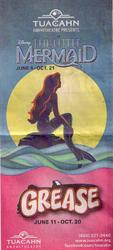 Newspaper ad for 'Disney's The Little Mermaid' and 'Grease' at the Tuacahn Amphitheatre. - , Utah