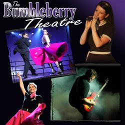 The Bumbleberry Theatre logo with photos of performers. - , Utah