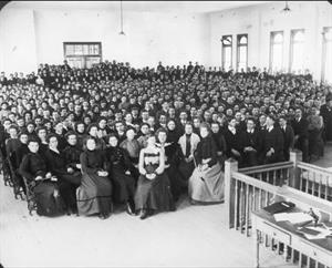 An assembly in College Hall in 1902. - , Utah