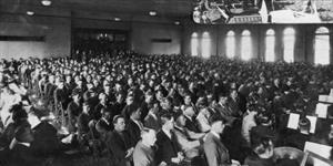 During the 1920s, devotionals were held three times a week in College Hall. - , Utah