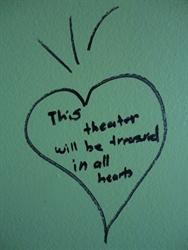 """This theater will be treasured in all hearts."""
