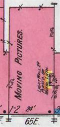The Isis Theatre on a 1911 Sanborn fire insurance map. - , Utah