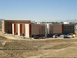 The north side of the Megaplex 14 at Legacy Crossing.