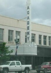 The triangular marquee and blade sign of the Academy Theatre. - , Utah