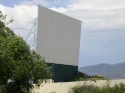 The screen of the Basin Drive-In. - , Utah