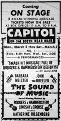 Ad for a live performance of The Sound of Music.