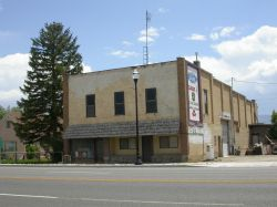 A view of the former theater building from across the street. - , Utah