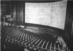 Auditorium of the Century 21, before installation of the seats was completed.
