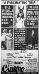 Opening day ad for the Cinema.