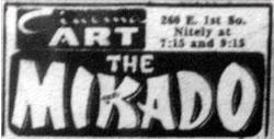 'The Mikado' at Cinema Art in 1962.