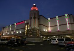 The 16-screen Cinemark theater is located on the southwest corner of the Provo Towne Centre Mall.  There is one level of parking below the multiplex. - , Utah