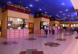 The Cinemark 16 has three sets of ticket booths.