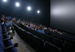 Looking across the auditorium of the IMAX 3D theater.