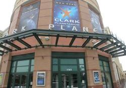 The entrance of the Clark Planetarium. - , Utah