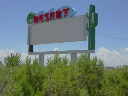 The east side of the Desert Drive-In sign. - , Utah