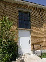 An exit on the south side of the building. - , Utah