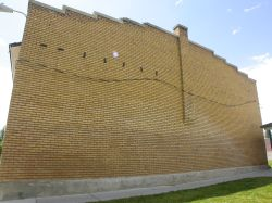 Back wall of the Fairview Dance Hall. - , Utah