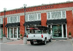 The old trolley barn that used to house the Flick Theatre is now a Restoration Hardware store. - , Utah