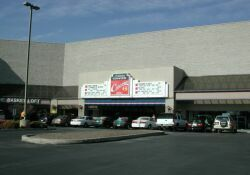 The front of the theater.  The theater is on the second level of this shopping center. - , Utah