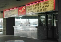 The theater's ticket booth and entrance. - , Utah