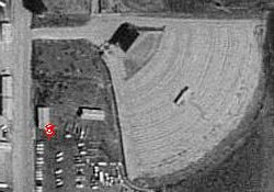 An aerial photo of the Hyland Drive-In in 1993.