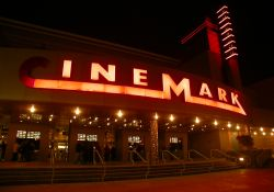 The entrance and marquee of the Cinemark 24 at Jordan Landing. - , Utah