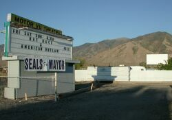 The sign and screen of the Motor Vu Theatre in 2001. - , Utah