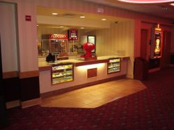 In the main hall of the Redstone 8 Cinemas is a small concession stand. - , Utah