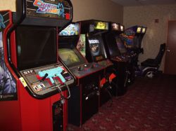 Arcade games in the in the back half of the game room at the Redstone Cinemas. - , Utah