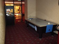 A pool table in the front half of the game room.  Off the picture on the left are the arcade games. - , Utah