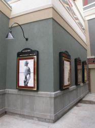 Four poster cases along the outside of the Redstone Cinemas lobby. - , Utah