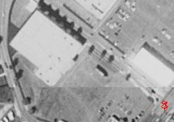 The building in the upper left of this 1997 aerial photo may have been the Riverdale Center 4 Theater. - , Utah