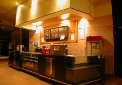 The concession stand by the original SCERA Showhouse auditorium.
