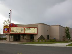 The front of the theater and part of the side. - , Utah
