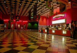 The lobby of the Tinseltown USA.
