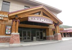 The front entrance of the Cinemark Holiday Village 4 theater in Park City, Utah. - , Utah