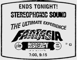 'Fantasia' at the Regency, in Stereophonic Sound. - , Utah